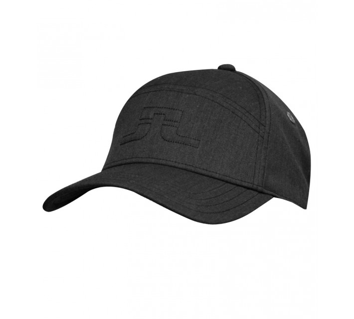 J. LINDEBERG WALTER COMBED COTTON CAP BLACK - SS15