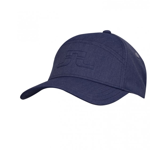 J. LINDEBERG WALTER COMBED COTTON CAP NAVY PURPLE - SS15
