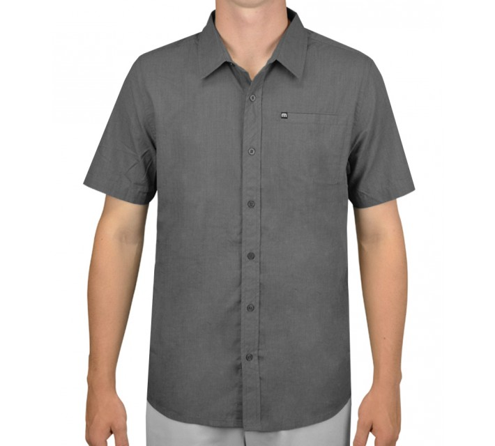 TRAVISMATHEW SHIRT WARNER HEATHER CASTLEROCK - AW15