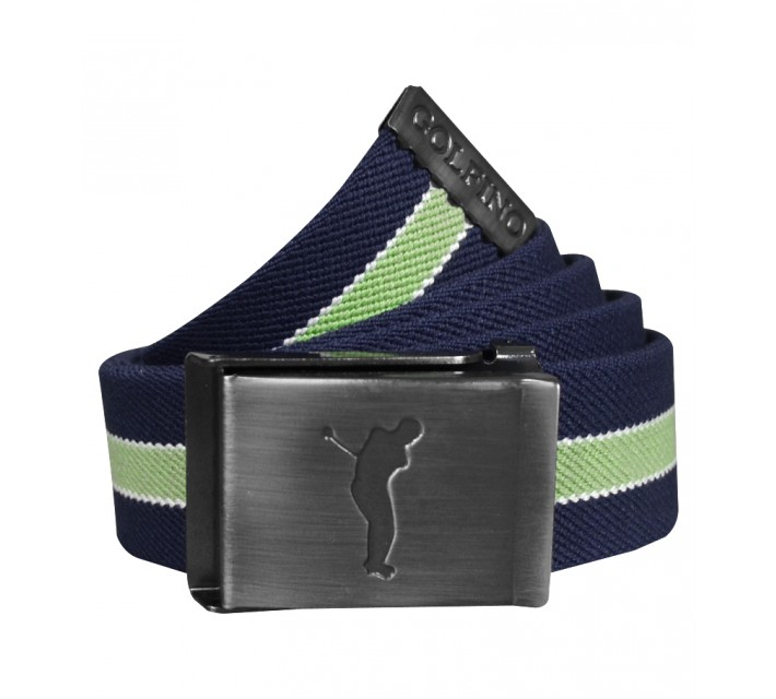 GOLFINO STRETCH STRIPED BELT NAVY - AW15