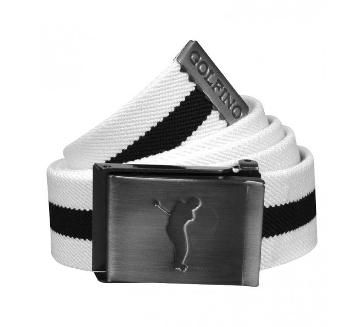 GOLFINO STRETCH STRIPED BELT OPTIC WHITE - AW15
