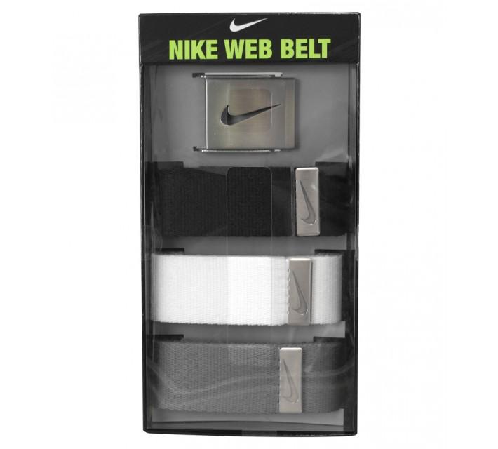 NIKE GOLF 3 IN 1 WEB BELT PACK BLACK/WHITE/GREY - SS15
