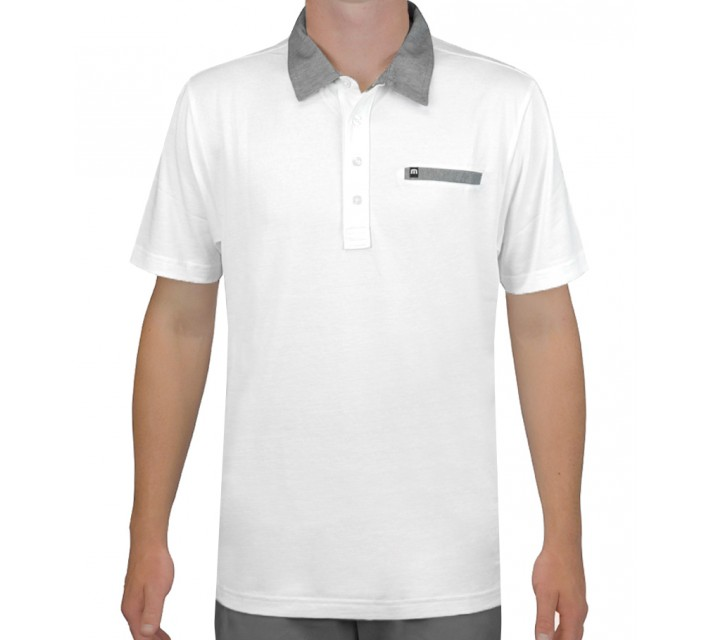 TRAVISMATHEW GOLF SHIRT WESTON WHITE - AW15