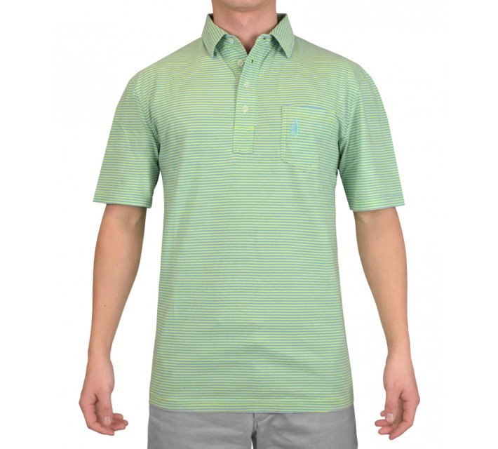 JOHNNIE-O WILSHIRE COTTON POLO LIME - SS15