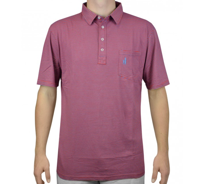 JOHNNIE-O WILSHIRE POLO SCARLET/SHADOW - AW15