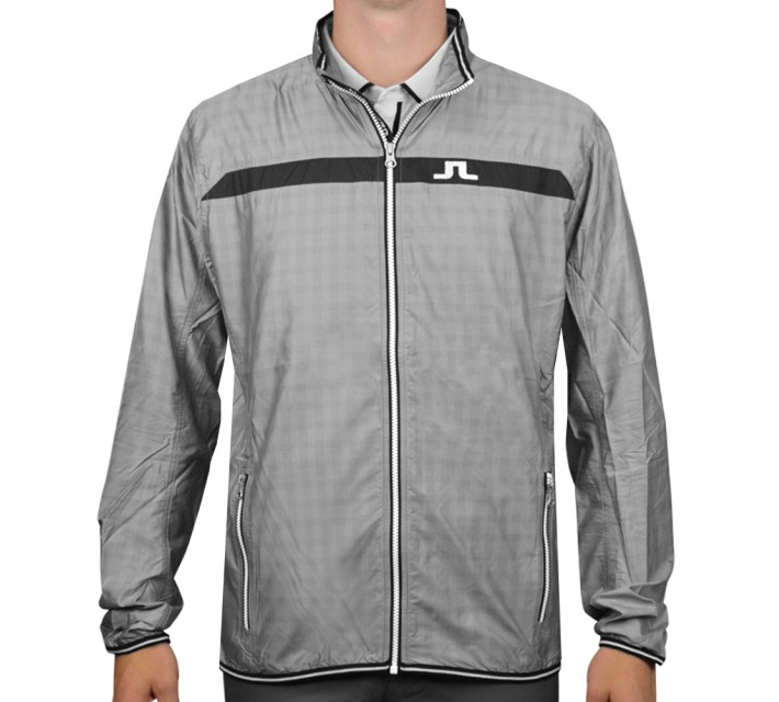 J. LINDEBERG WIND JACKET WINDPRO DK GREY SQUARE - AW15