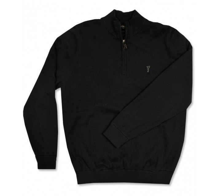 GOLFINO WINDSTOPPER TROYER 1/4 ZIP SWEATER BLACK - AW16