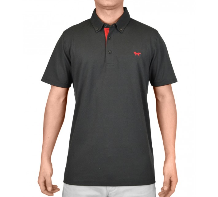 WOLSEY TEMPERATURE REGULATING PIQUE POLO TRUE BLACK - AW15