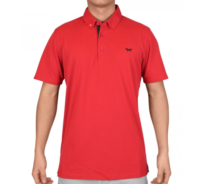 WOLSEY TEMPERATURE REGULATING PIQUE POLO CHILLI PEPPER - SS15