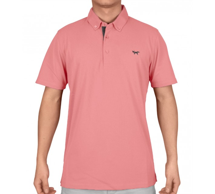 WOLSEY TEMPERATURE REGULATING PIQUE POLO CAMEO PINK - SS15