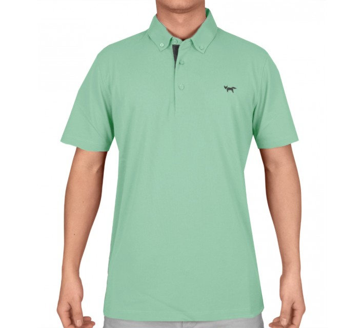 WOLSEY TEMPERATURE REGULATING PIQUE POLO WASABI - SS15