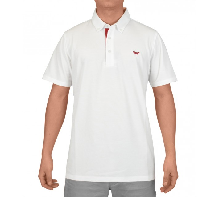 WOLSEY TEMPERATURE REGULATING PIQUE POLO WHITE - AW15