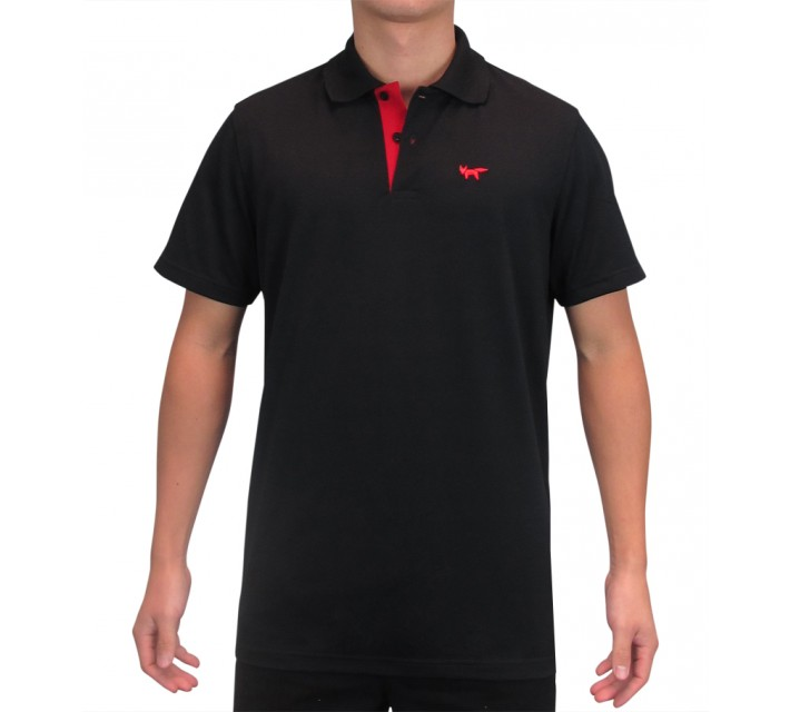 WOLSEY THERMOCOOL TWO BUTTON PIQUE POLO TRUE BLACK - SS15