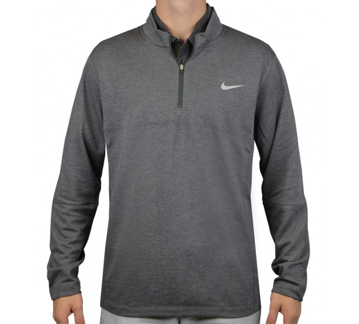 NIKE DRI-FIT WOOL 1/2-ZIP TOP DARK GREY - AW15 CLOSEOUT
