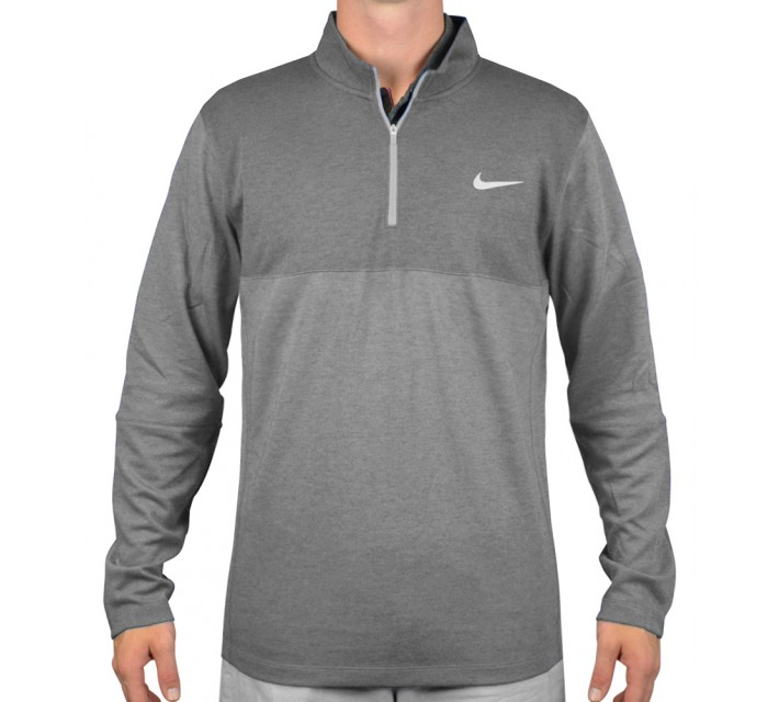 NIKE DRI-FIT WOOL 1/2-ZIP TOP WOLF GREY - AW15 CLOSEOUT