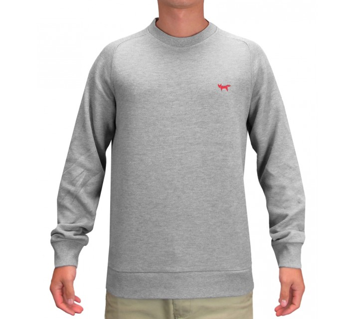 WOLSEY CREW NECK SWEATER GREY MARL - SS15