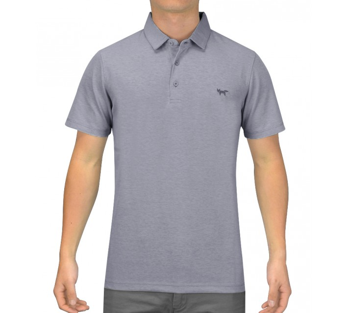 WOLSEY 3 BUTTON DOUBLE KNITTED POLO CHAMBRAY BLUE - SS15