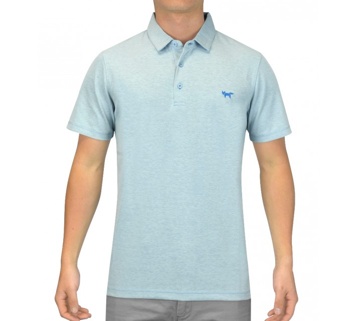 WOLSEY 3 BUTTON DOUBLE KNITTED POLO BLUE ORCHID - SS15