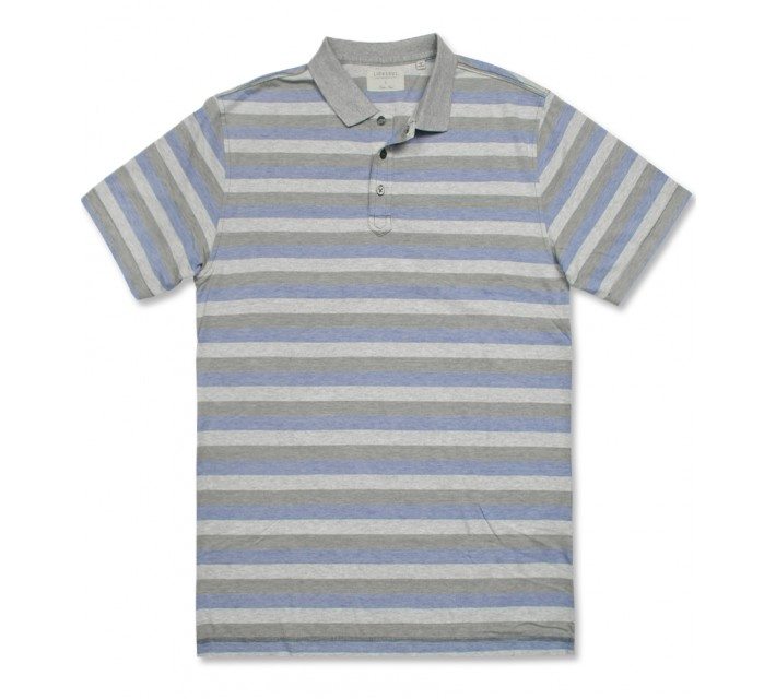 LINKSOUL INNOSOFT COTTON YD STRIPE POLO MOSS - AW16
