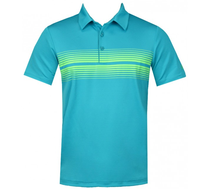 UNDER ARMOUR YOUTH BOYS PULSE POLO PACIFIC/POISON - AW15