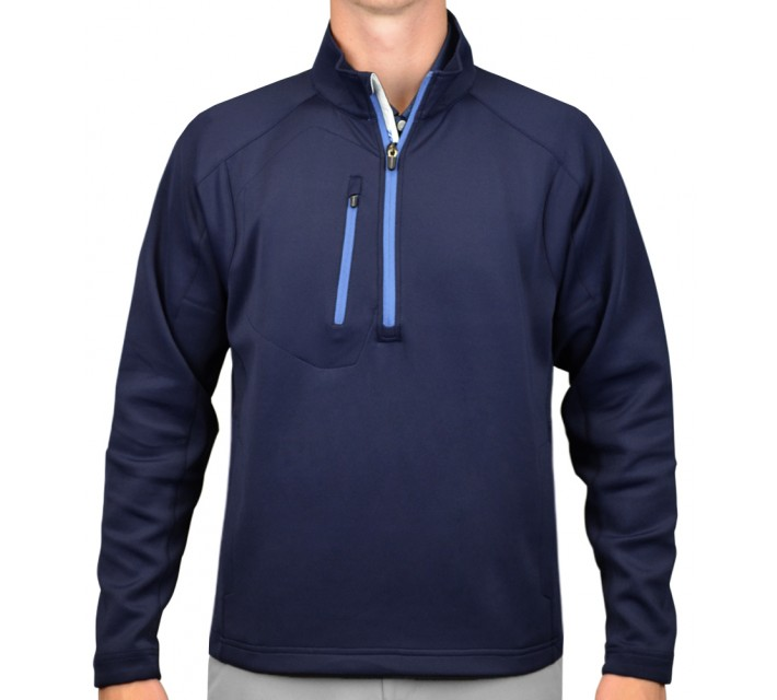 ZERO RESTRICTION Z500 1/4 ZIP PULLOVER NAVY - AW16