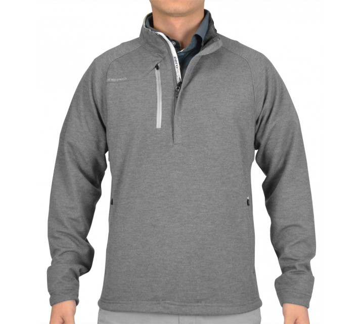 ZERO RESTRICTION Z525 1/4 ZIP PULLOVER LT GREY HEATHER - AW15
