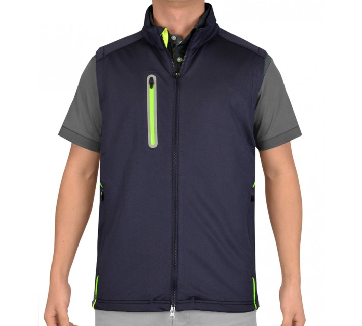 ZERO RESTRICTION Z550 ZIP FRONT VEST 2.0 BLUE INDIGO - SS15