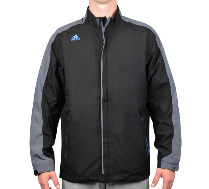 ADIDAS CLIMAPROOF GORE-TEX FULL ZIP RAIN JACKET BLACK - AW15