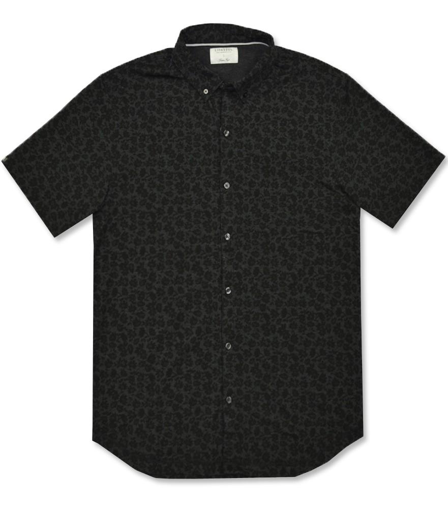 Linksoul Dry Tech Button Down Shirt Black Floral Aw16