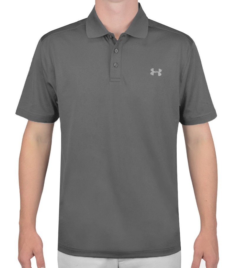 under armour performance golf polo graphite ss16. Black Bedroom Furniture Sets. Home Design Ideas