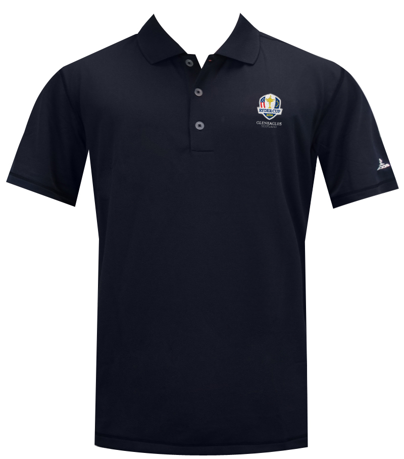 ADIDAS LE GLENEAGLES RYDER CUP SOLID JERSEY NAVY - AW14 Z85732-GLEN