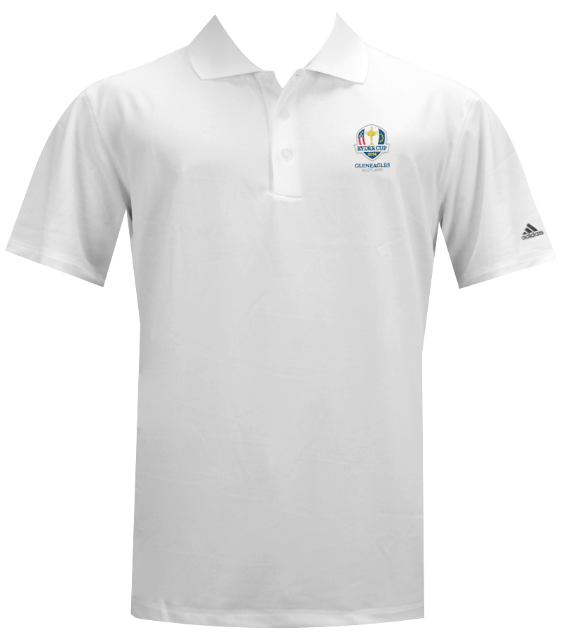 ADIDAS LE GLENEAGLES RYDER CUP SOLID JERSEY WHITE - AW14 Z85739-GLEN