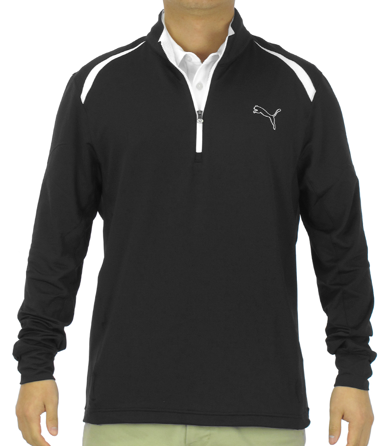 PUMA GOLF LONGSLEEVE 1/4 ZIP TOP BLACK - SS15 565505-01