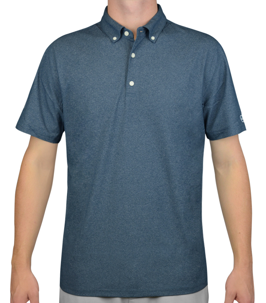 AG GREEN LABEL THE GOWER POLO POINT CONCEPTION BLUE - AW15 8322SSQ-PCB