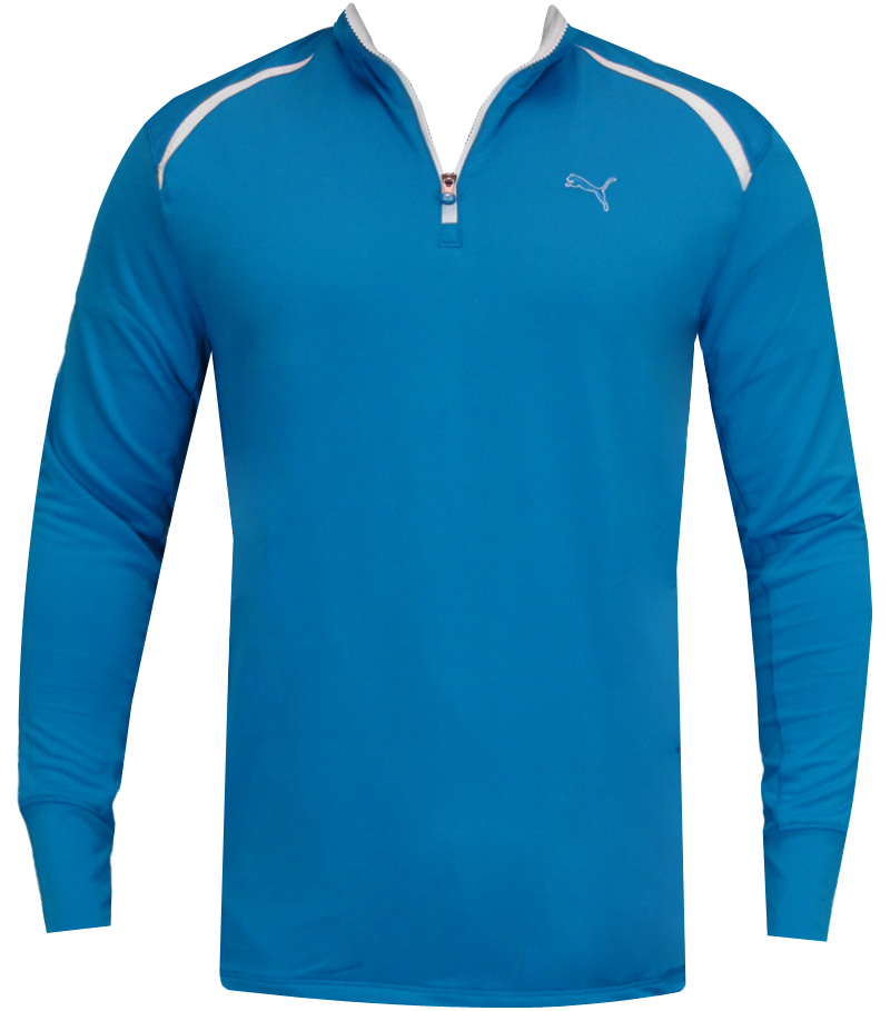 PUMA GOLF LONGSLEEVE 1/4 ZIP TOP BLUE ASTER - SS14 565505-08