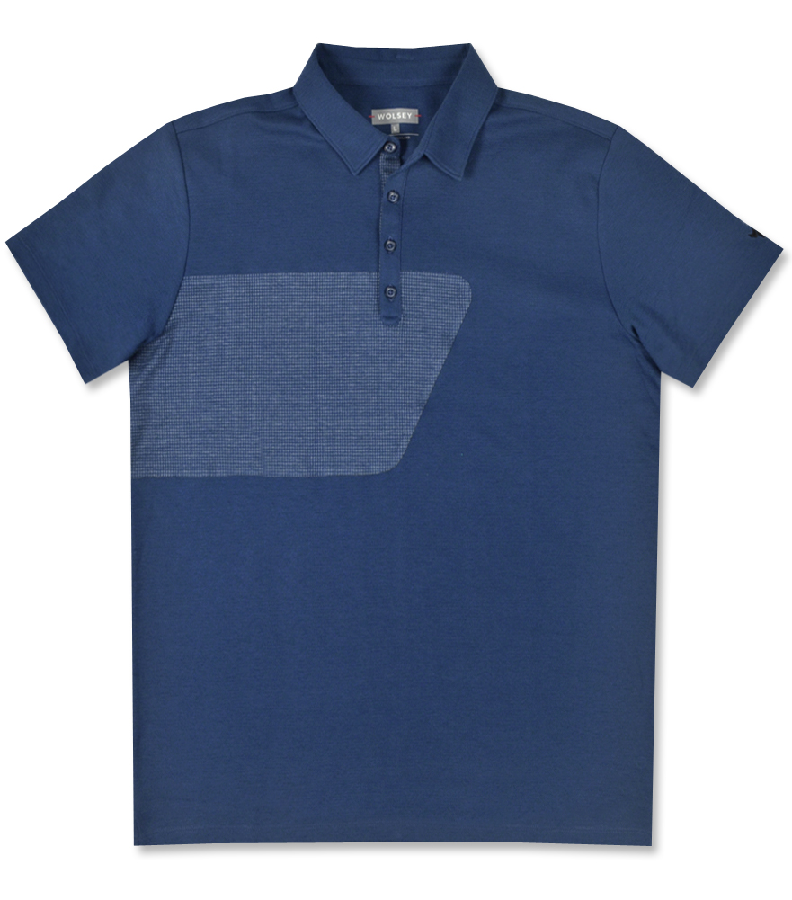 WOLSEY CRAIGMORE HOUNDSTOOTH POLO ENSIGN BLUE - AW16