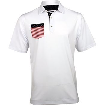 footjoy lisle flag chest pocket polo