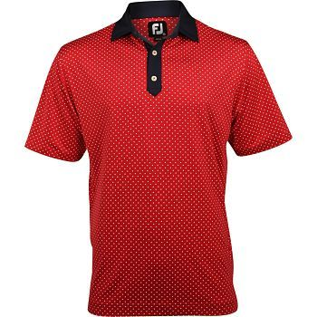 footjoy lisle star print polo