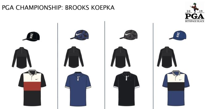 4983520d0 Brooks is switching between the Nike Vapor CB and Dri-Fit Vapor shirts at  the PGA. Both shirts have prominent main colors with pops of accent colors  to ...