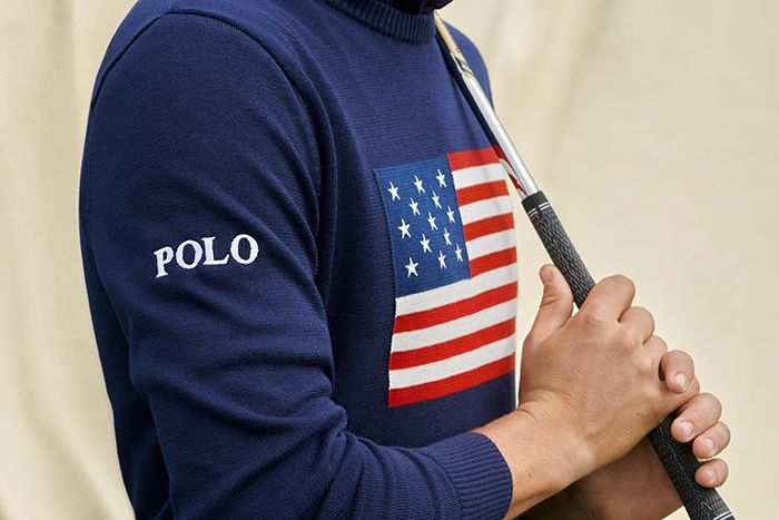 polo justin thomas flag sweater