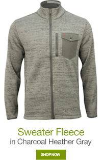 Sweater Fleece in Charcoal Heather Gray