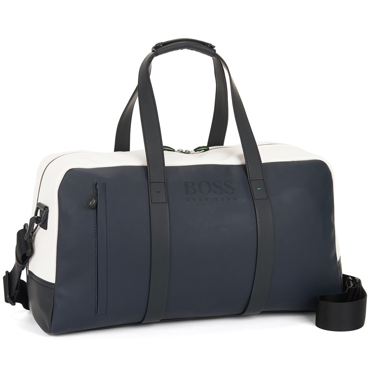 Hugo Boss Hyper Color Blocking Holdall Duffle Bag Luggage In Navy White