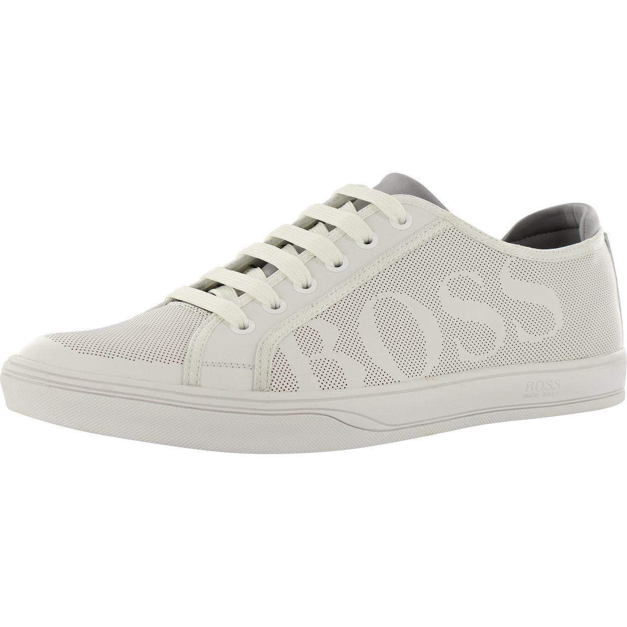 4456a60799 Hugo Boss Attitude Tennis Inspired Leather Sneakers | FairwayStyles.com