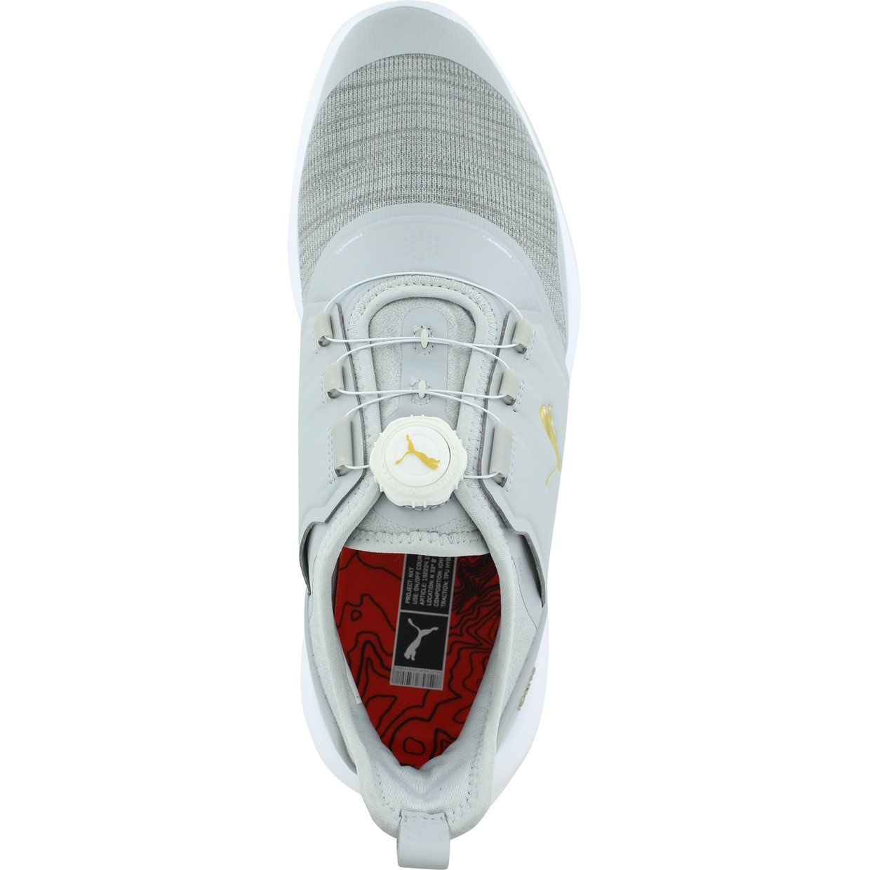 ce1d4f14086d04 Puma IGNITE NXT DISC Golf Shoe in High Rise Team Gold White