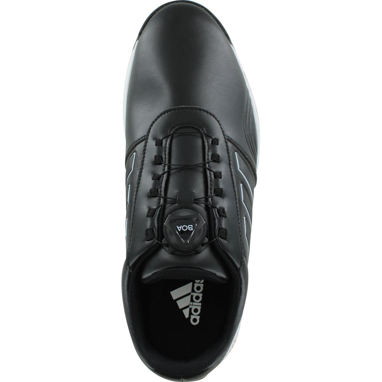 d4dfdd07663589 Adidas CP Traxion BOA Golf Shoe in Black White Silver Metallic