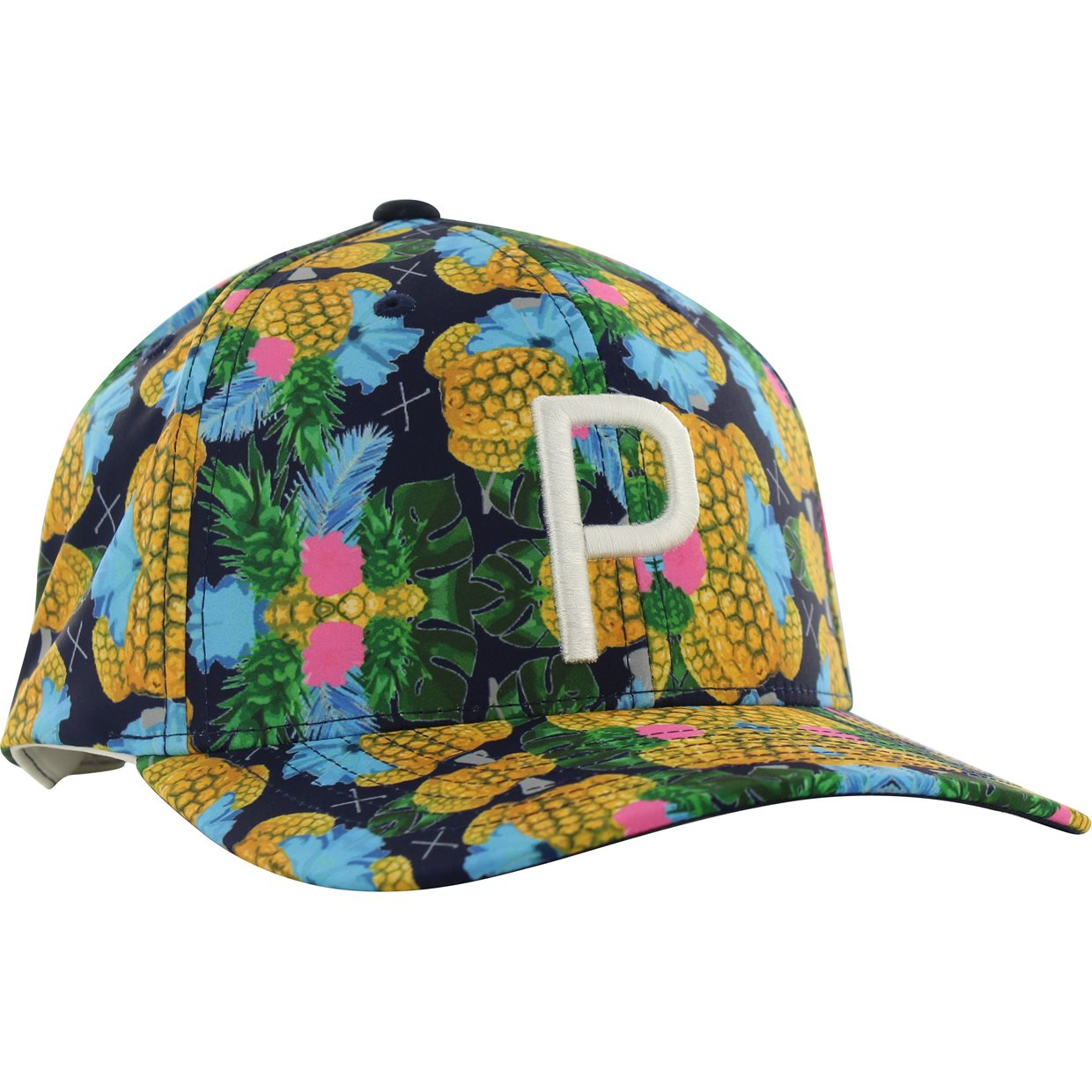 on sale 2f511 3acdf Puma Limited Edition Pineapple P 110 Snapback Headwear in Peacoat Mfr.  Close-Out